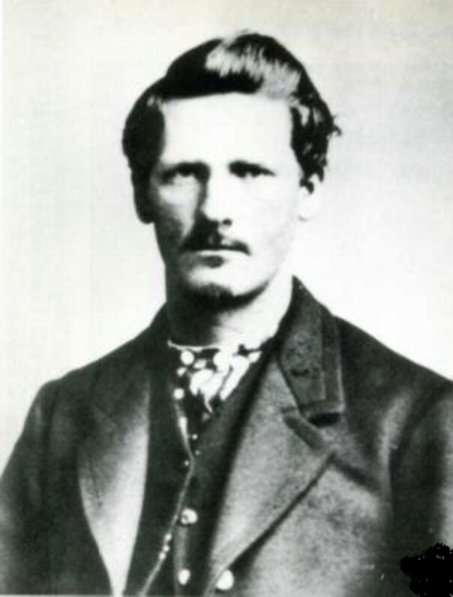 Wyatt Earp At About Age 22. He lived from 1848 - 1929. He was a western lawman and gunfighter.