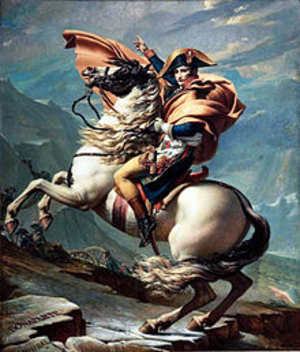 I always hated this painting. My beautiful white horse looks strong and fearless, but I look like some sort of sissy leader with a bare leg. I am wearing white breeches but my leg looks naked.