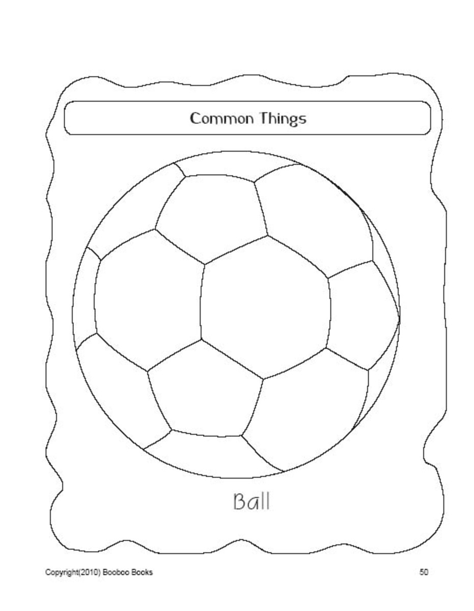 PreSchool Coloring Pages - Common objects