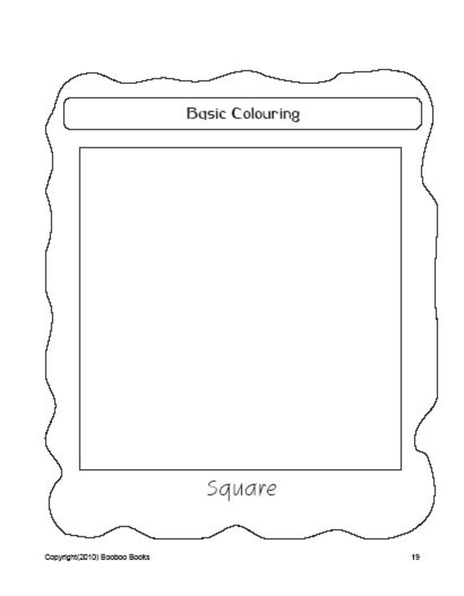 PreSchool worksheets  - Square