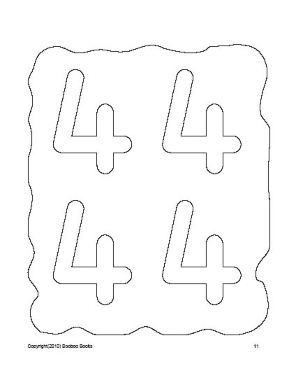 PreSchool Color ing Pages- Numbers
