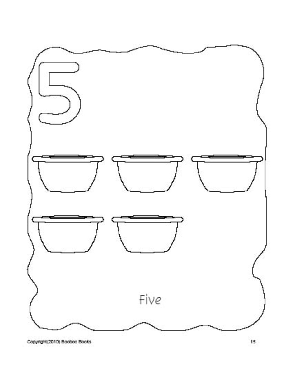 PreSchool Coloring Pages - Numbers