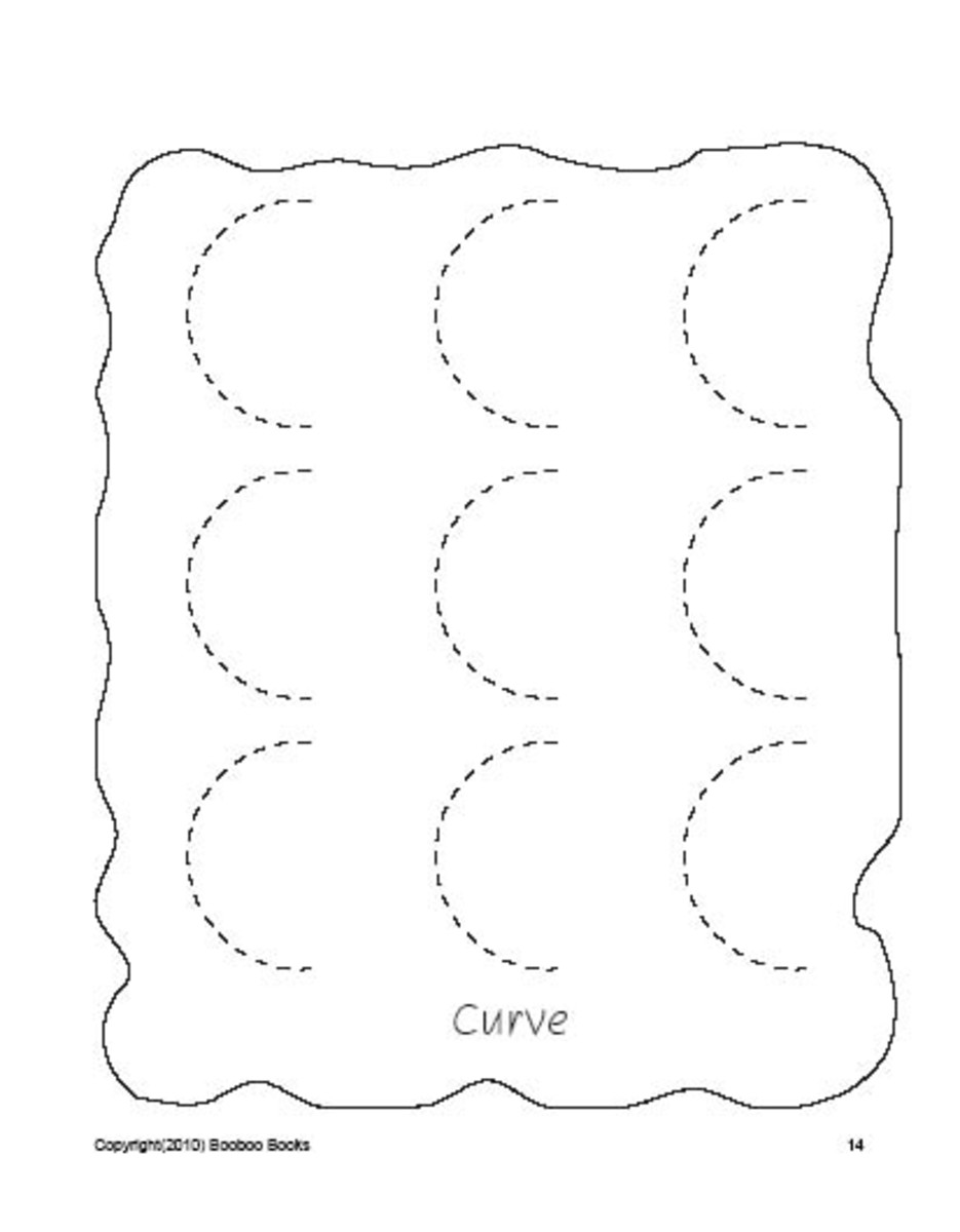 PreSchool worksheets - Curves