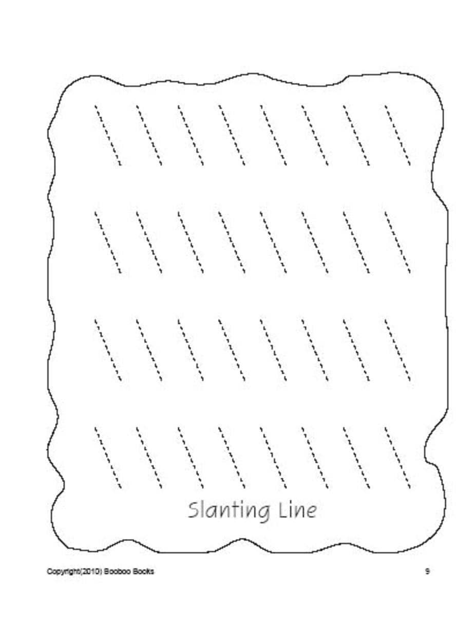 PreSchool worksheets - Lines
