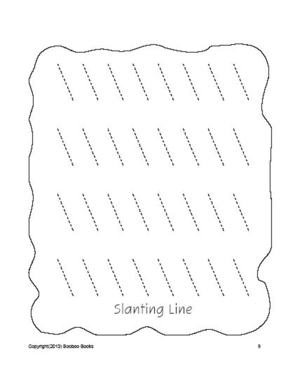 PreSchool worksheets - Lines