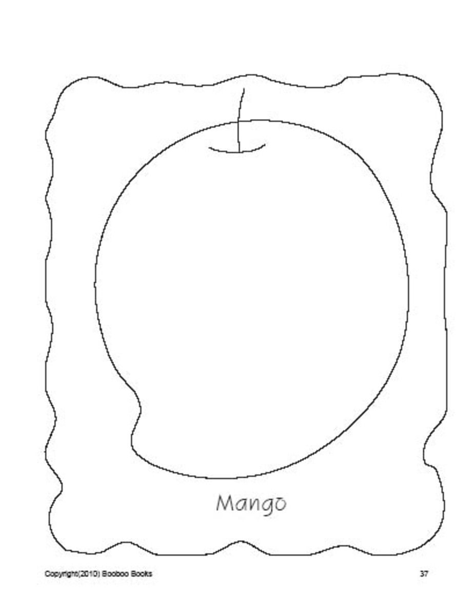 PreSchool Coloring Pages - Fruits
