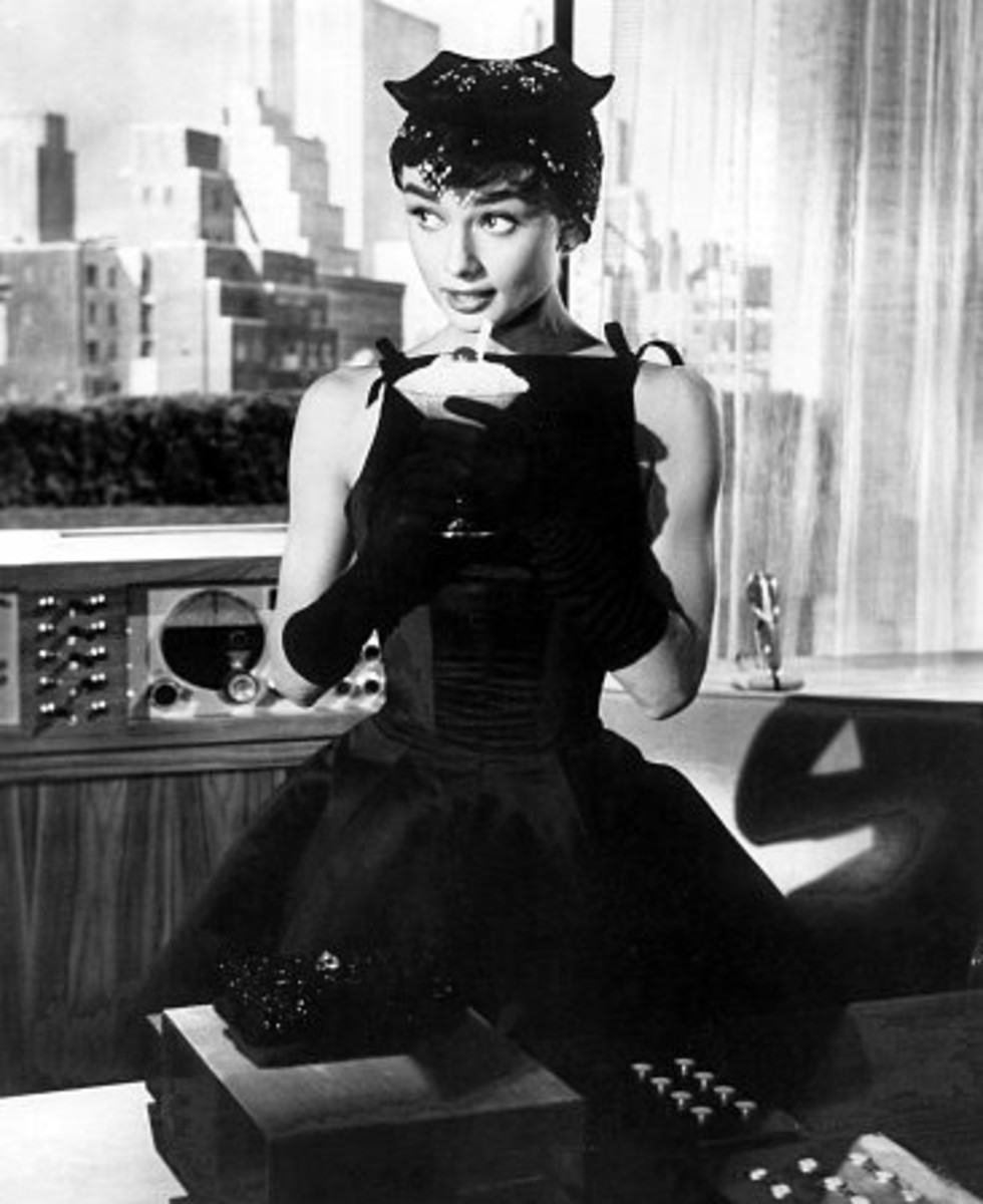 The black dress that Audrey found while rifling through Givenchy's collection.