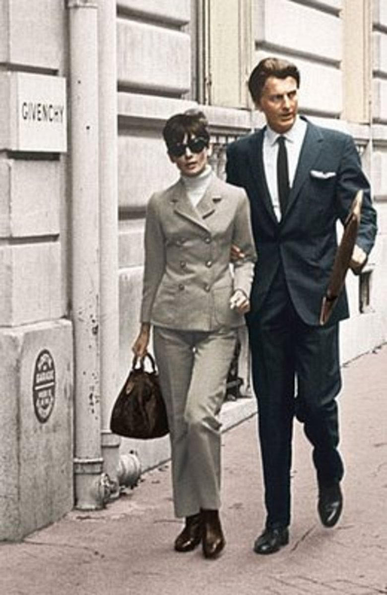 Audrey and Givency in Paris.