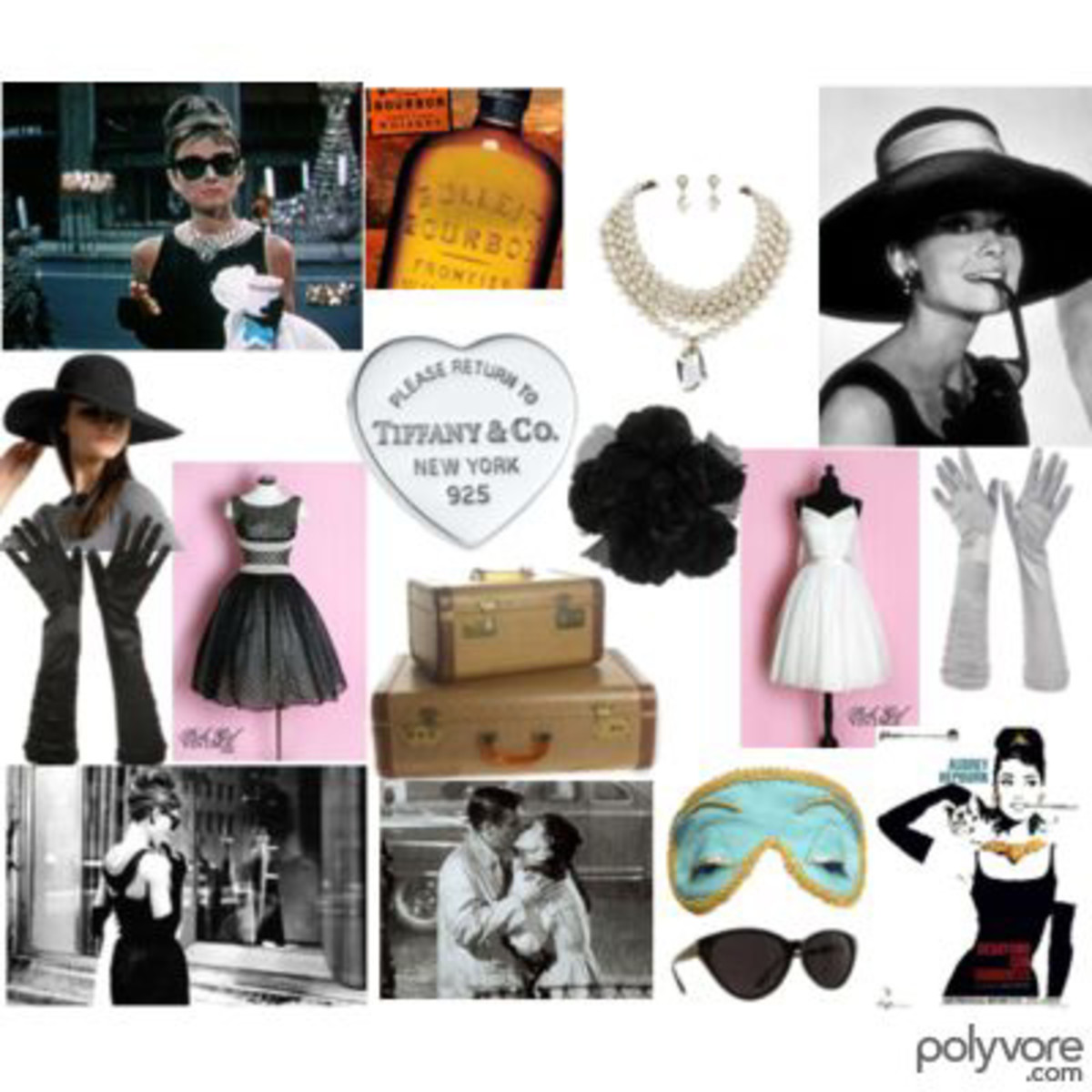 "A ""Breakfast At Tiffany's"" collage."