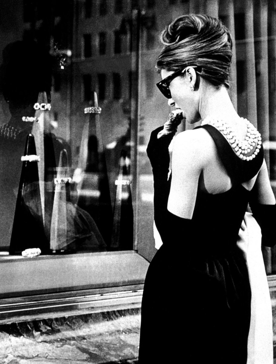 Audrey in a Hubert de Givenchy gown.