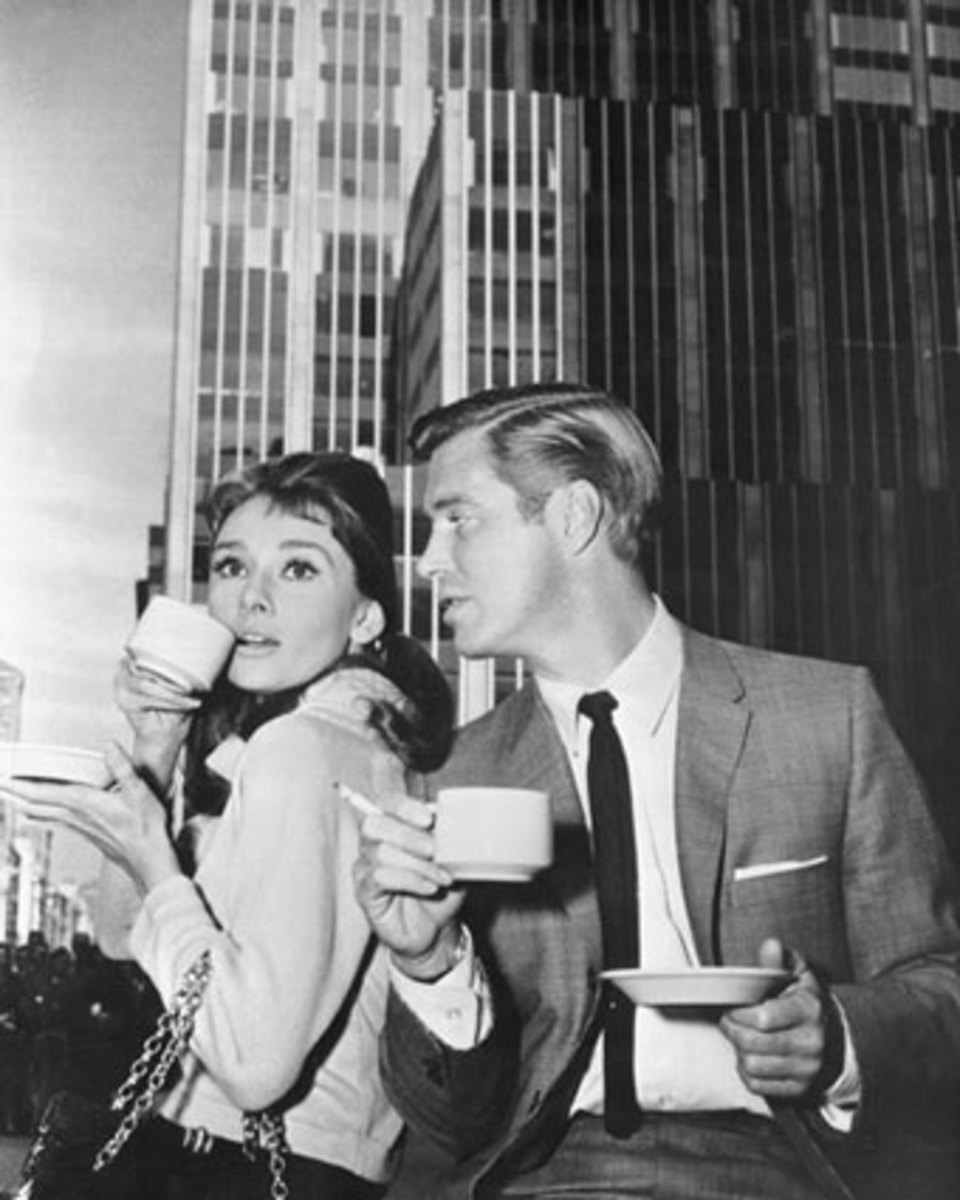 With leading man, George Peppard.