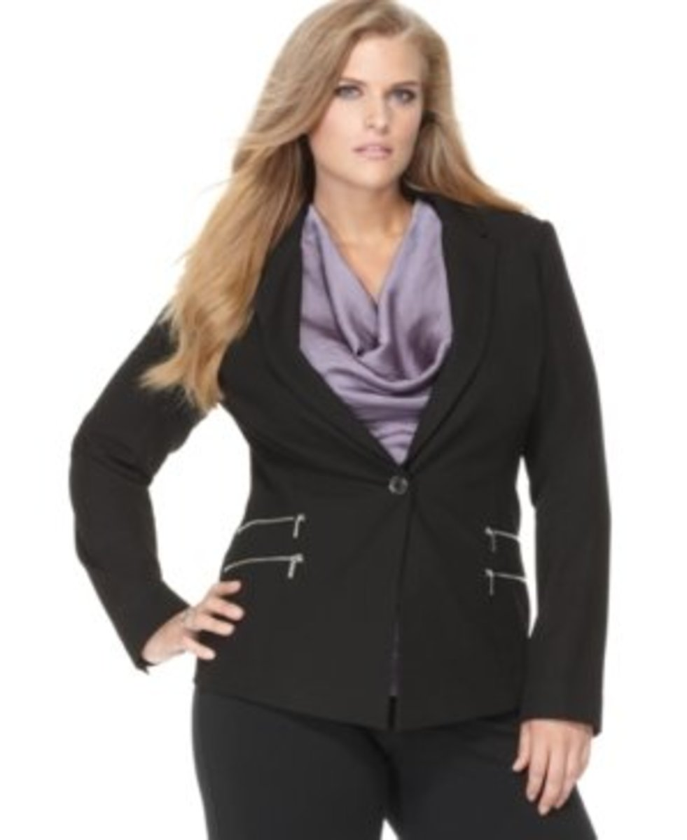 how to buy plus size business clothes on a budget