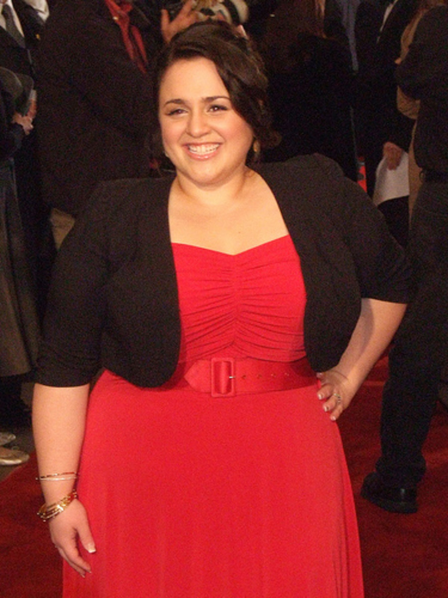 A little cardigan on top to conceal flabby arms like Nikki Blonsky