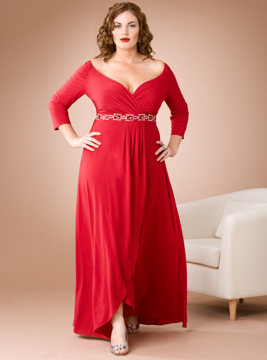 plus-size-red-dresses