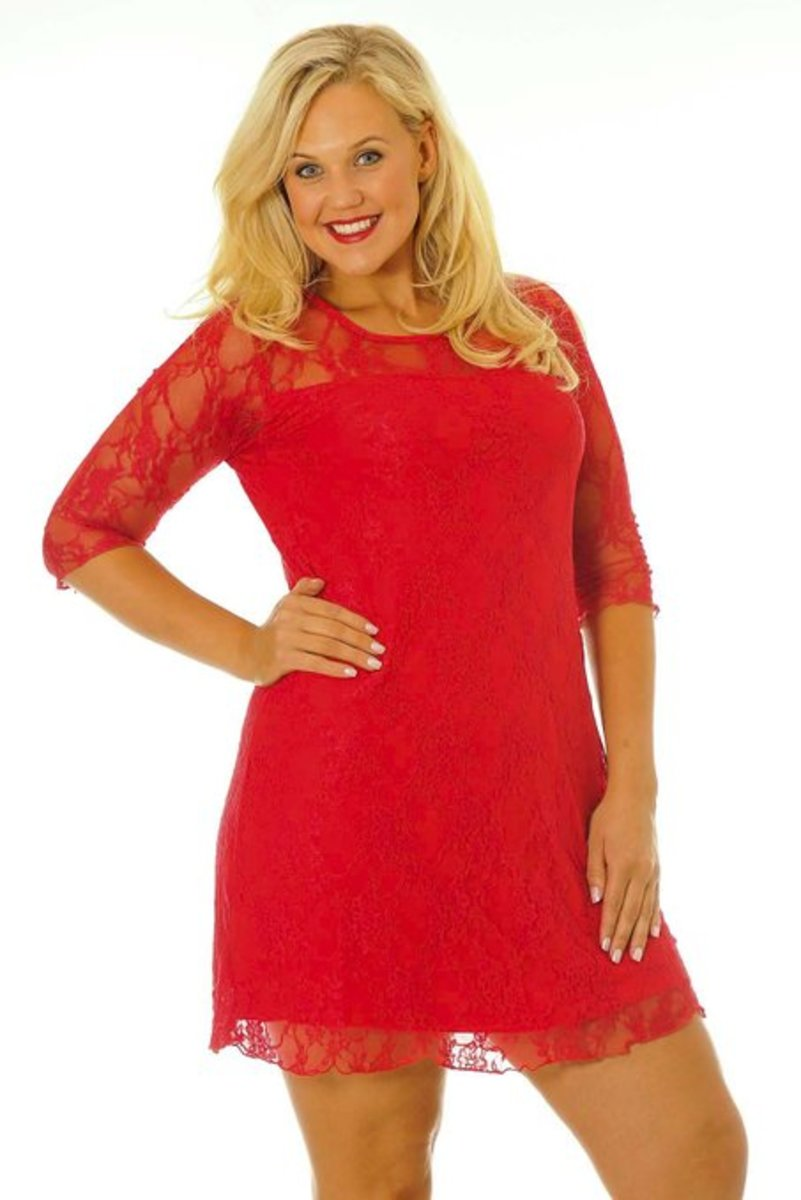 Sexy Signature Lace Dress for plus size ladies