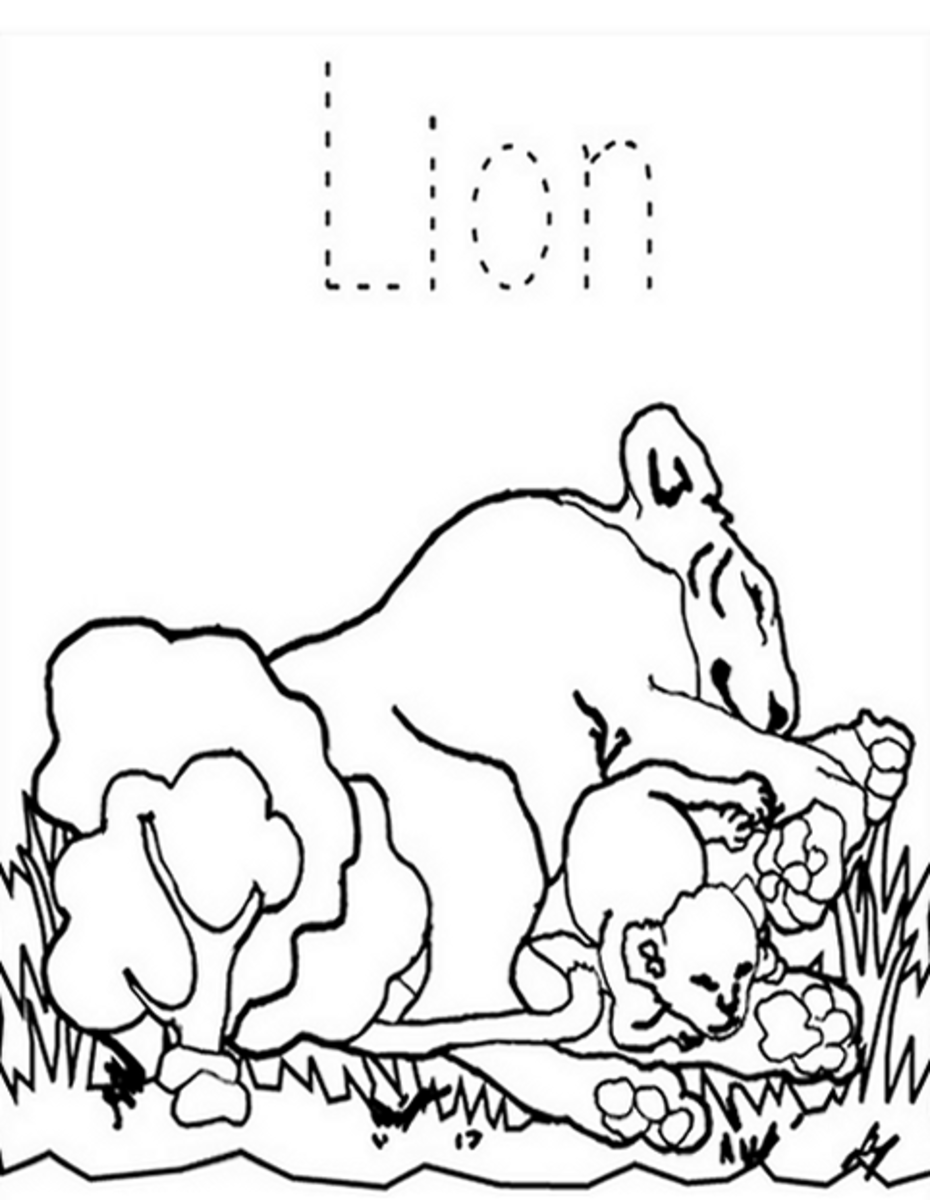 Zoo-Animals Coloring Pictures Colouring Pages Lions