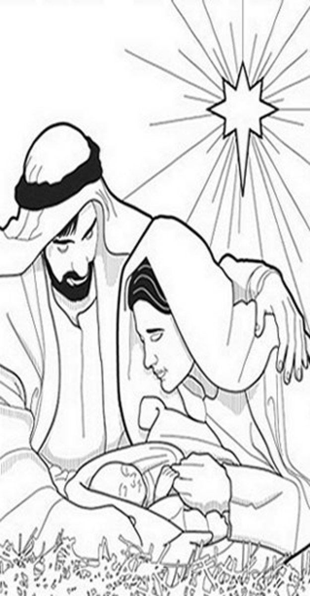 Christmas Nativity Kids Coloring Pages with Free Colouring ...