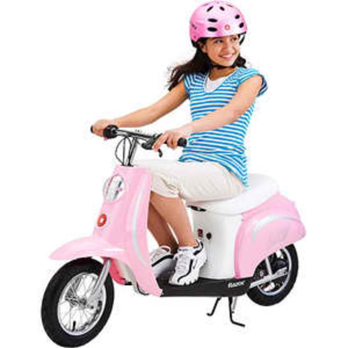Kids Pink Razor Moped