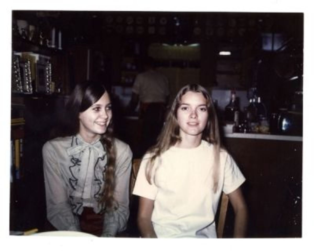Me and Sister Melanie in the Early 1970s.