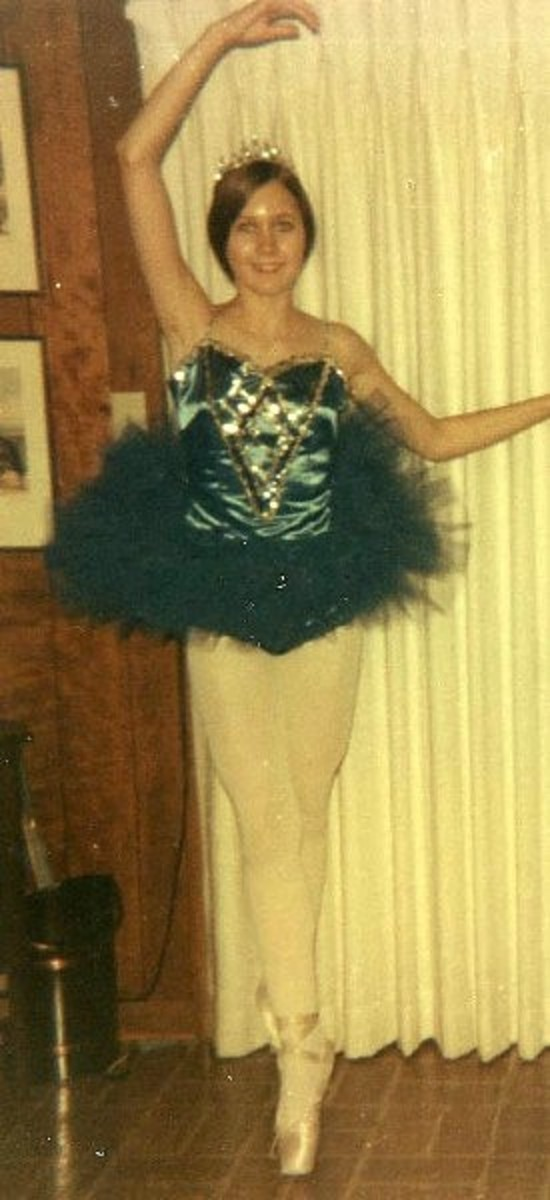 Here I am--posing for the camera in my new royal blue tutu and rhinestone tiara.