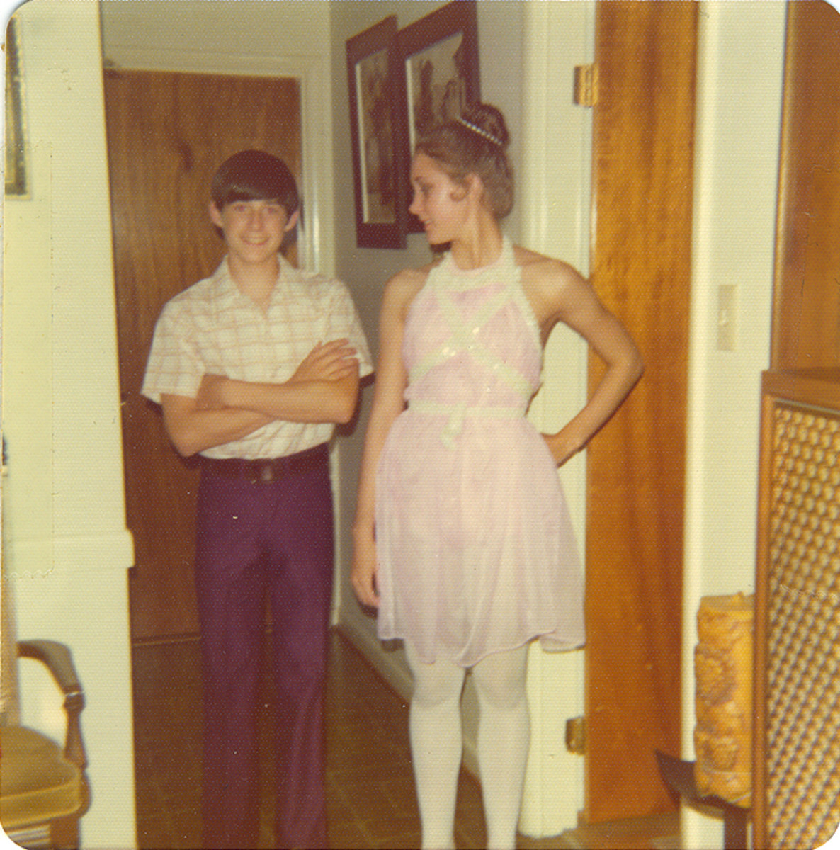 All Decked Out in My Princess Aurora Costume With Brother Jim in 1974--Photo credit: Blonde Blythe