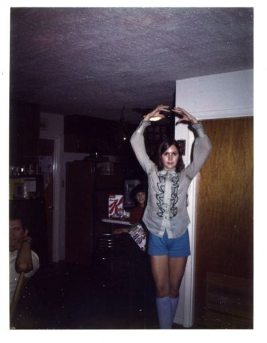 I'm At it Again--Dancing in Shorts and Frilly Blouse.
