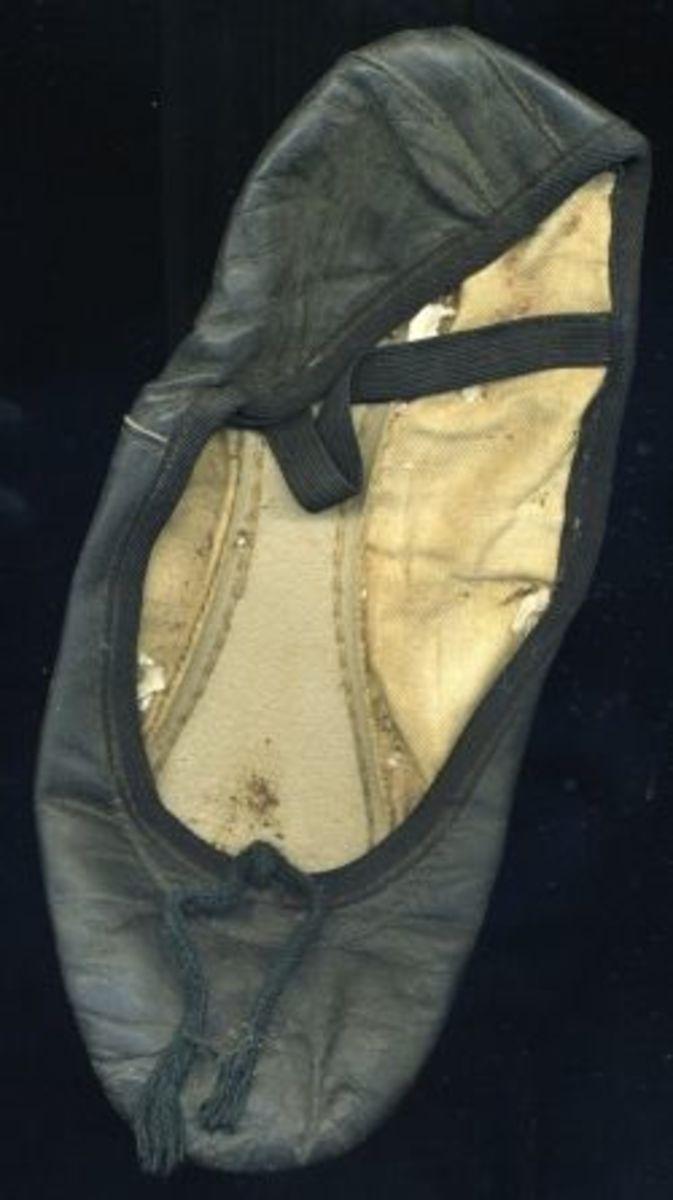 My very first ballet slipper.