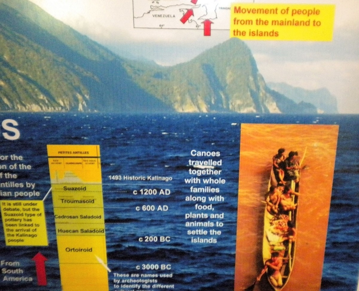 Dominica Mountain Fortress and the Carib War-Canoe