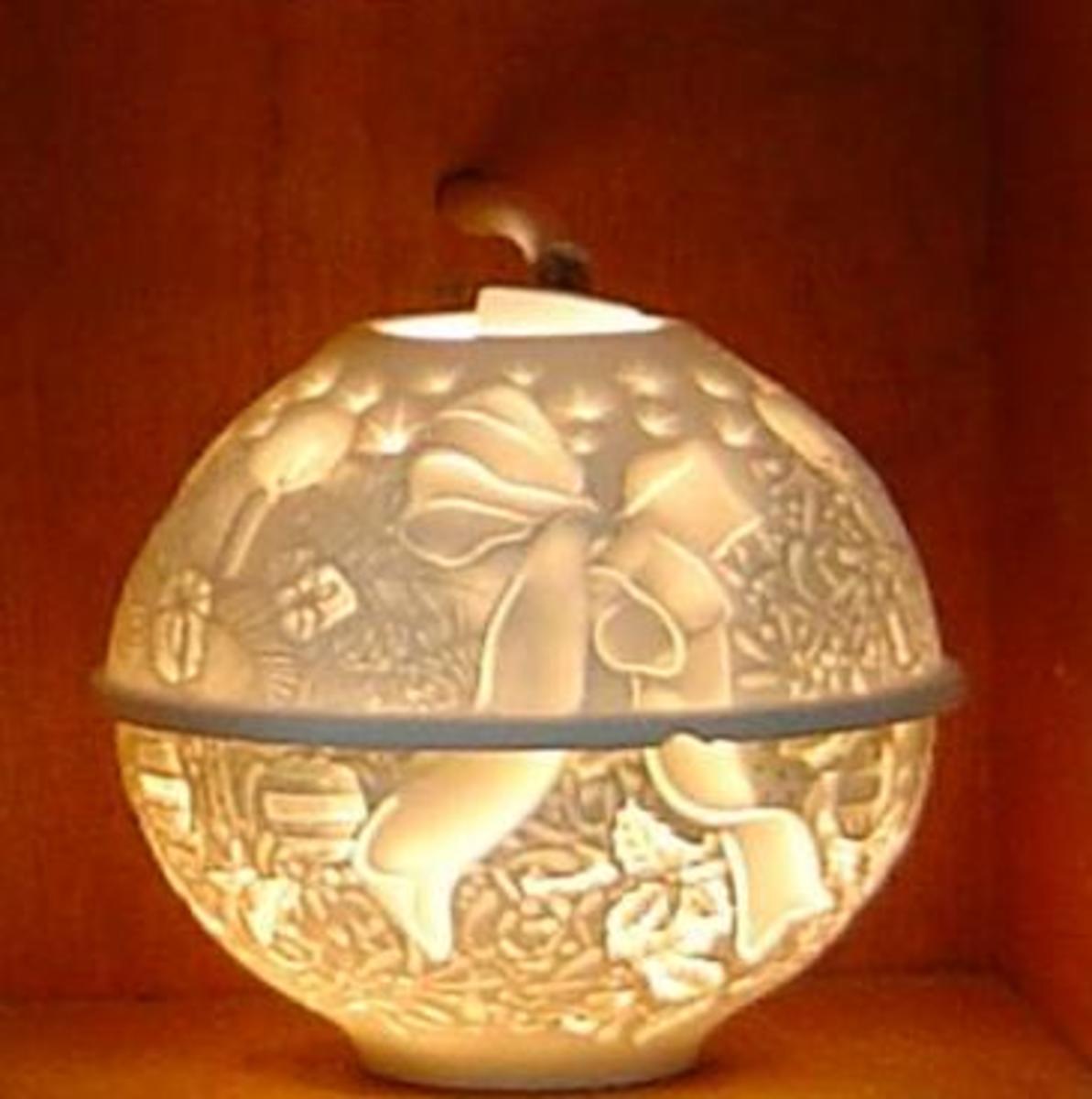 Limoges porcelain lamp from Deshoulieres factory outlet, Limoges