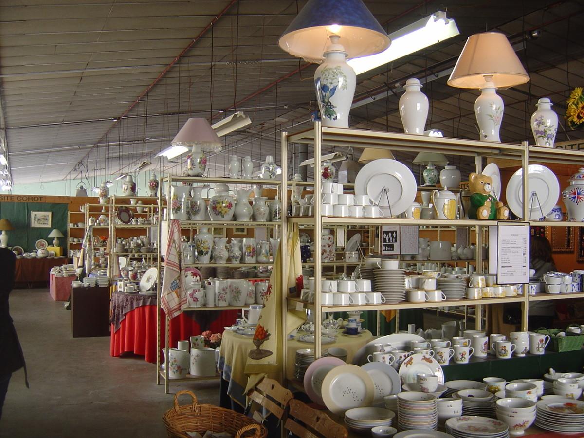 La Vie en Rose porcelain factory shop in Saint Junien, Limoges, France