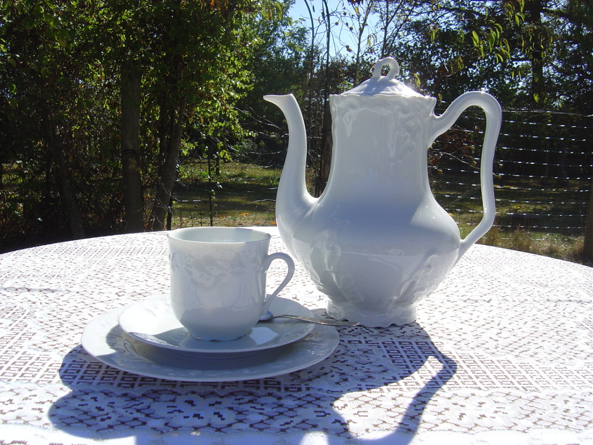 Limoges porcelain at our bed and breakfast in Limousin, France