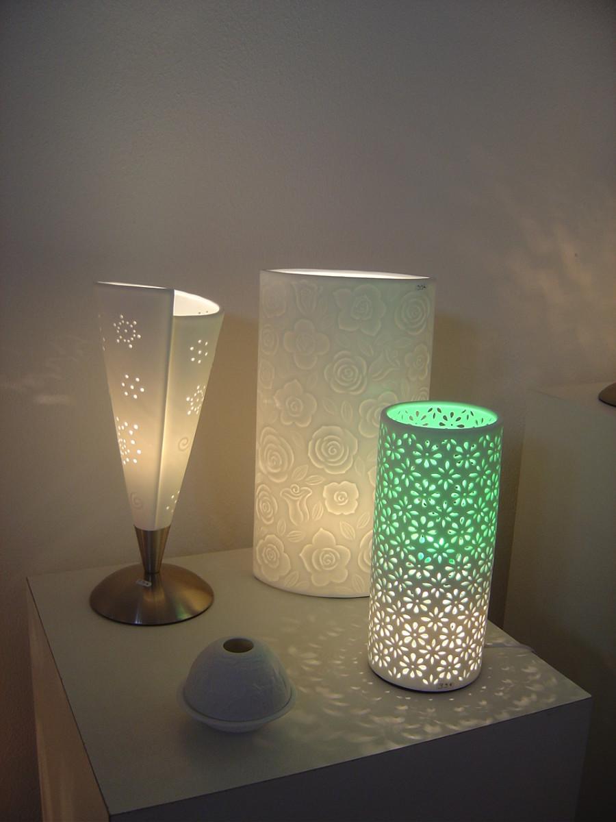 Modern electric lamps from La Vie en Rose, Saint Junien