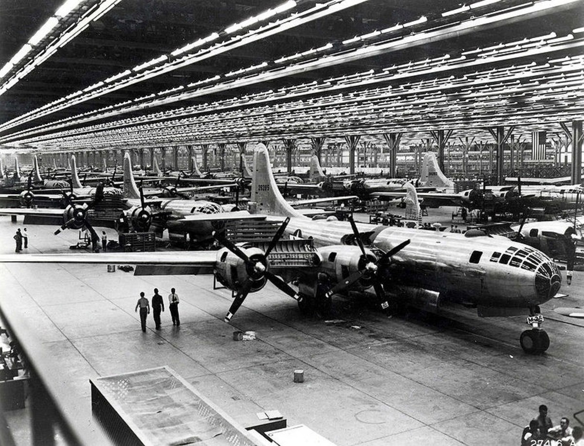 Boeing's on assembly line.