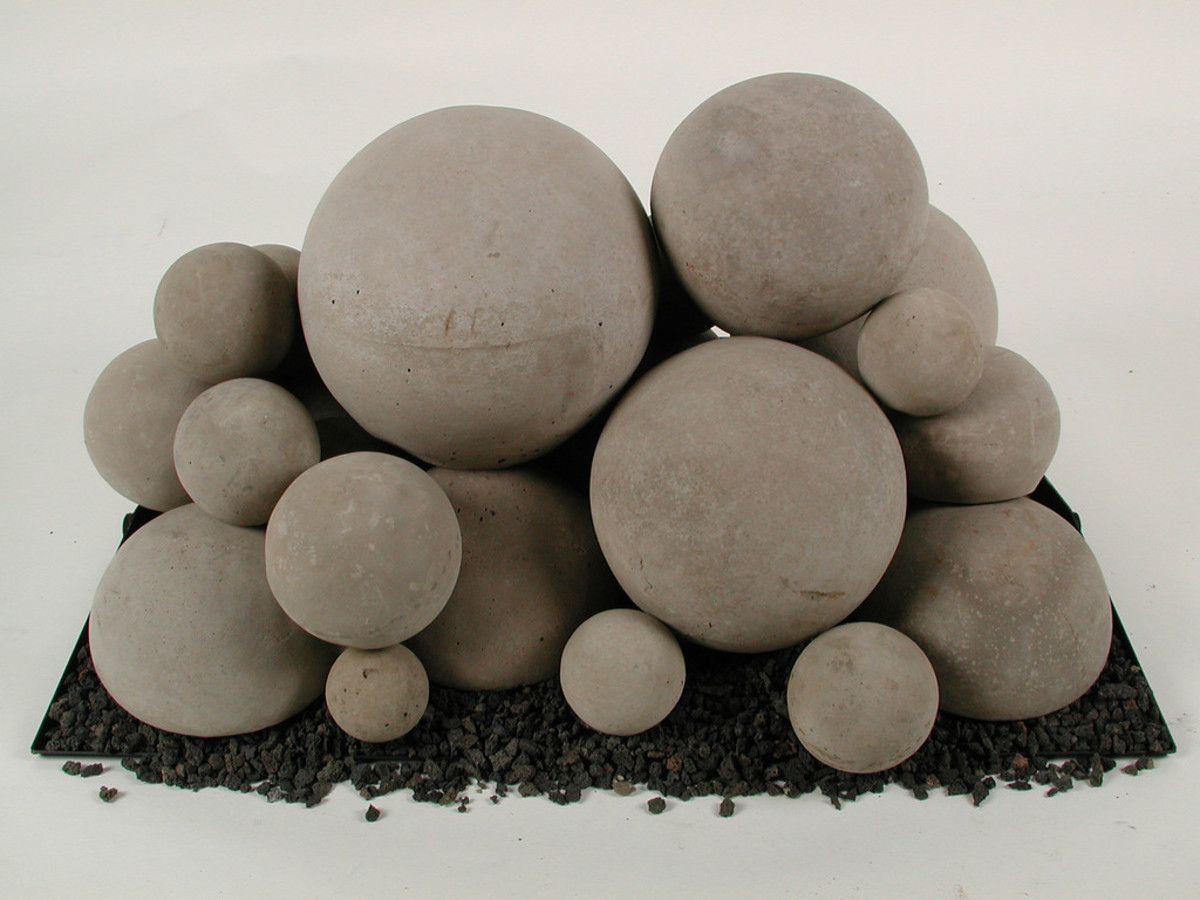 many sizes of fire ball can be used together for new flame patterns and awesome designs in any fireplace.