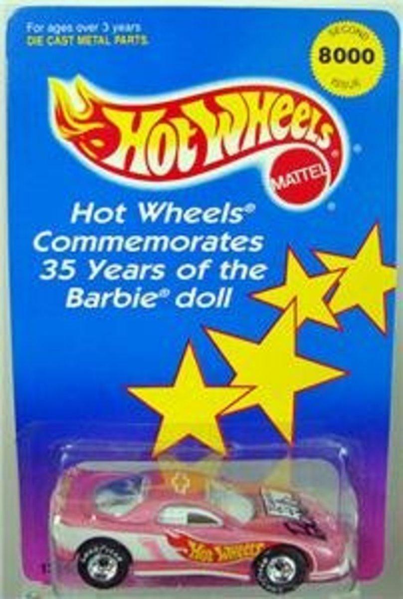 35th Anniversary Commemorative Barbie Hot Wheels