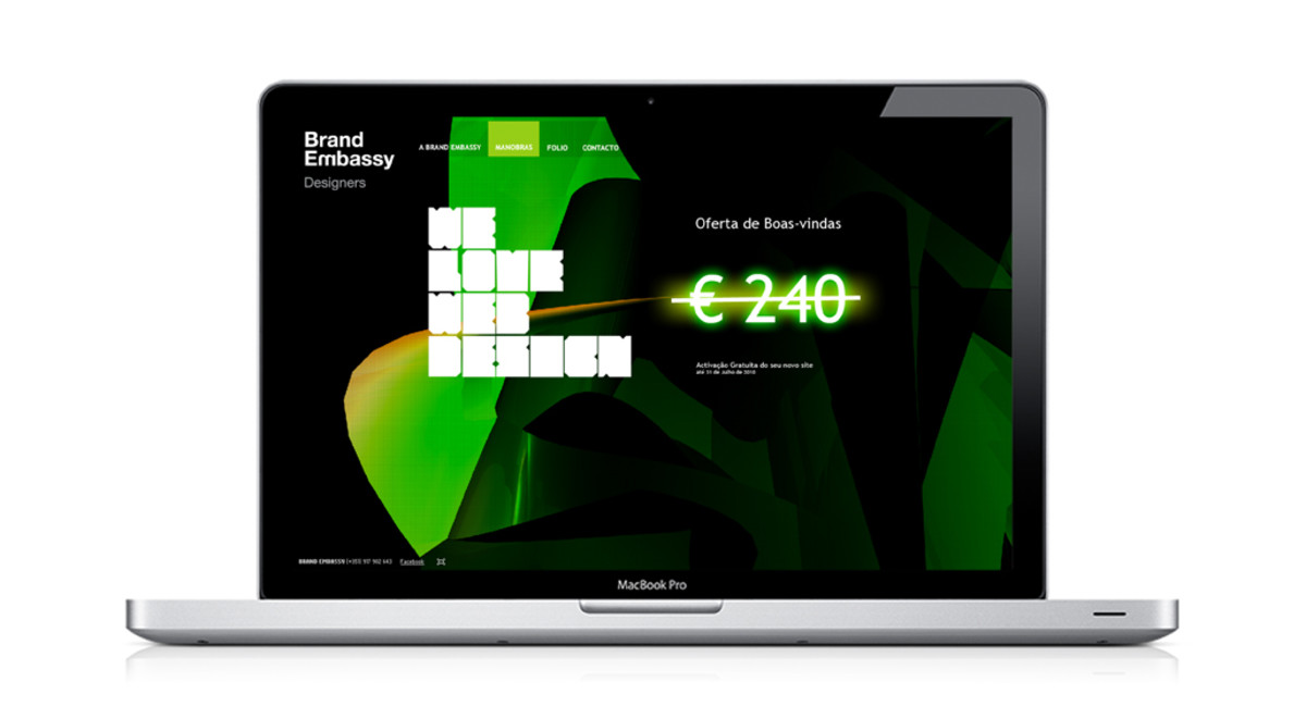 The first edition of the Brand Embassy website. using a modified theme from Theme Forest