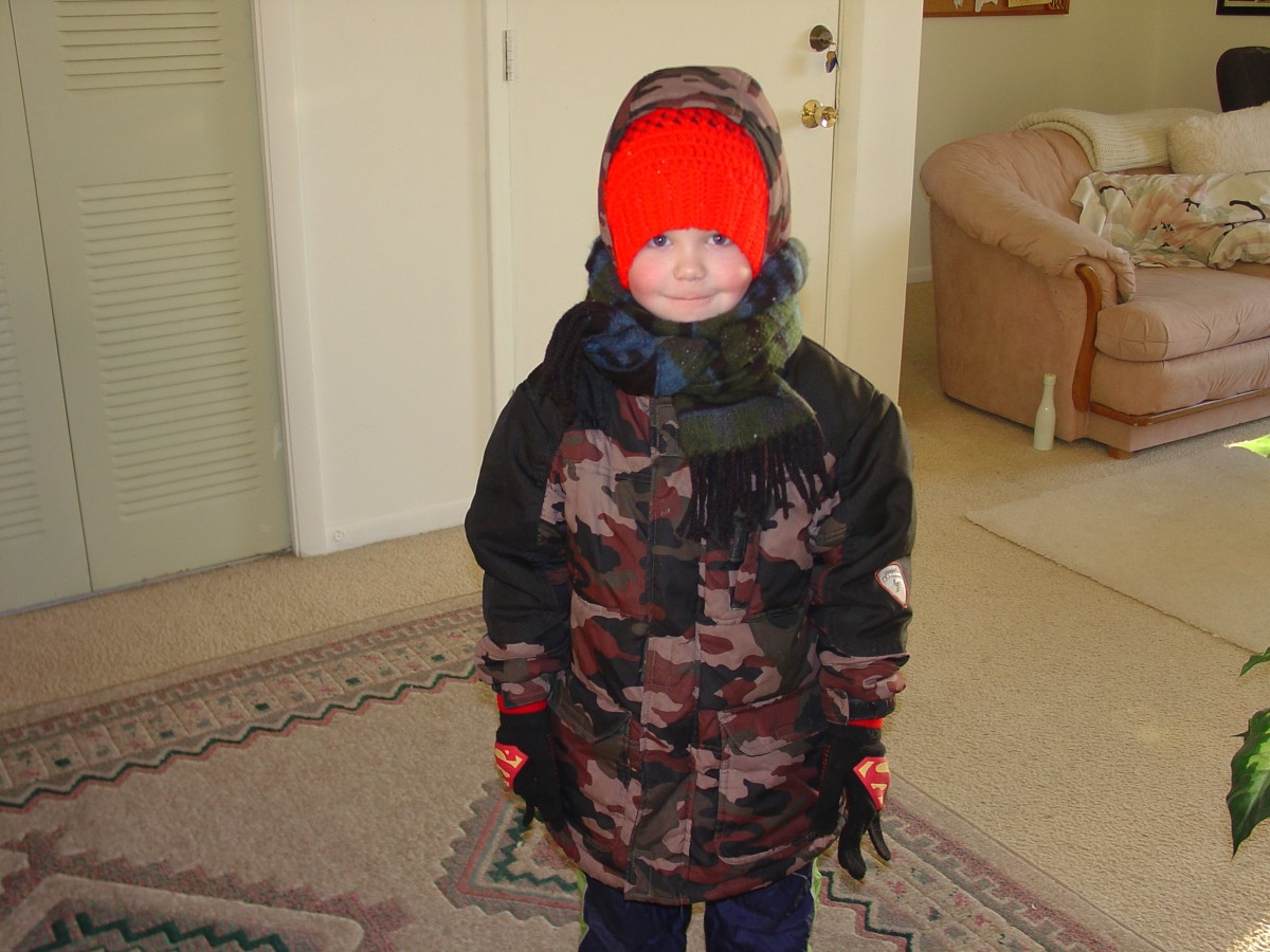 Dress for the weather, coat, mittens, hat and scarf...