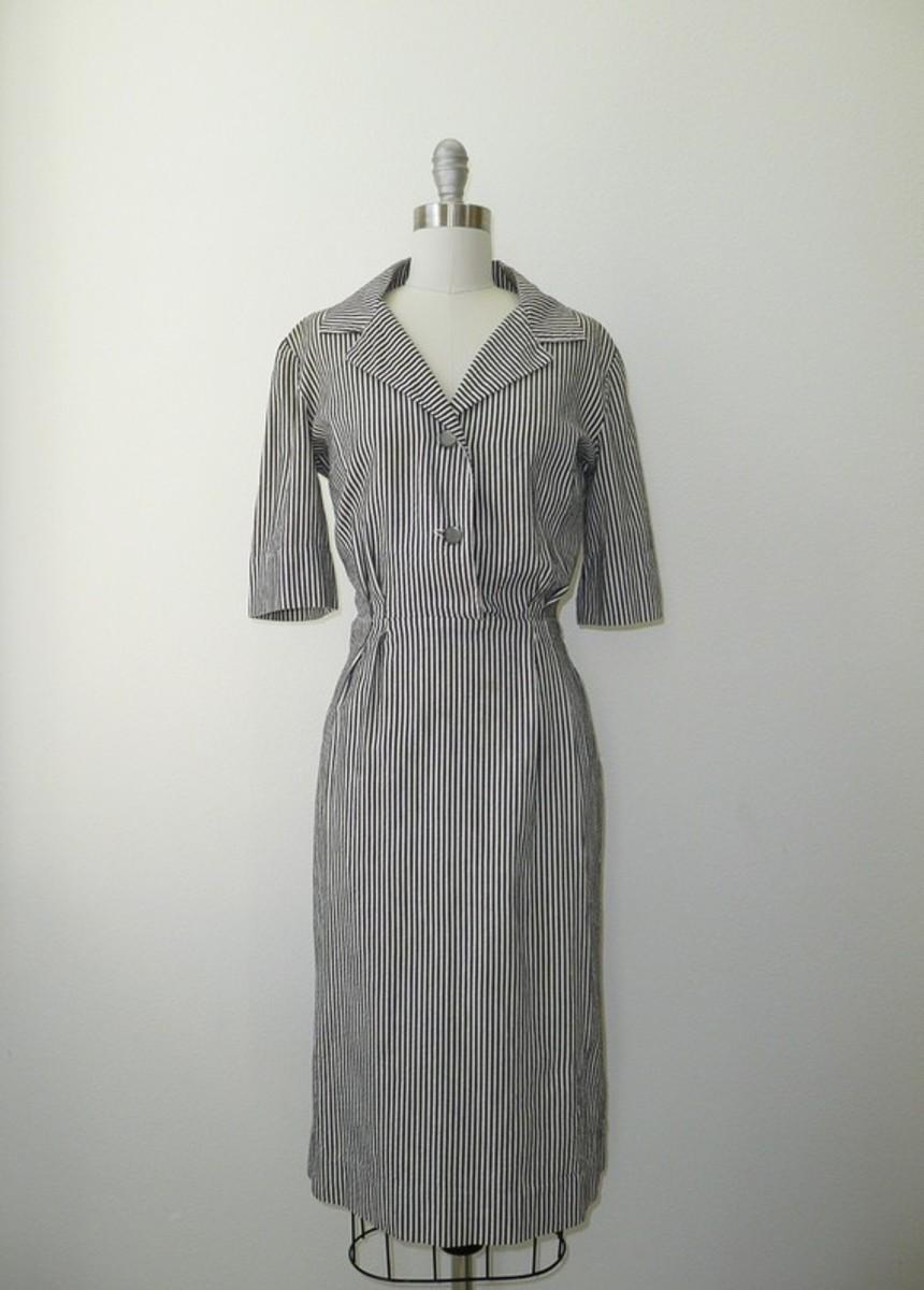 Vintage '50s shirt dress for sale by Deseo Vintage on etsy.com