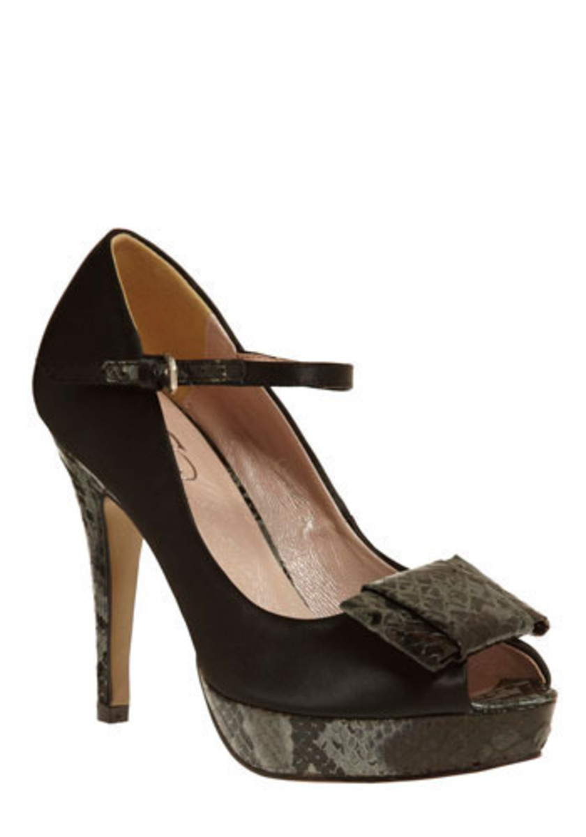 Bow and Boa Heel for sale at modcloth.com