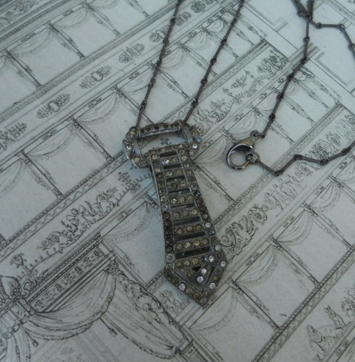 Chivalry Isn't Dead Vintage Tie Necklace for sale on etsy.com