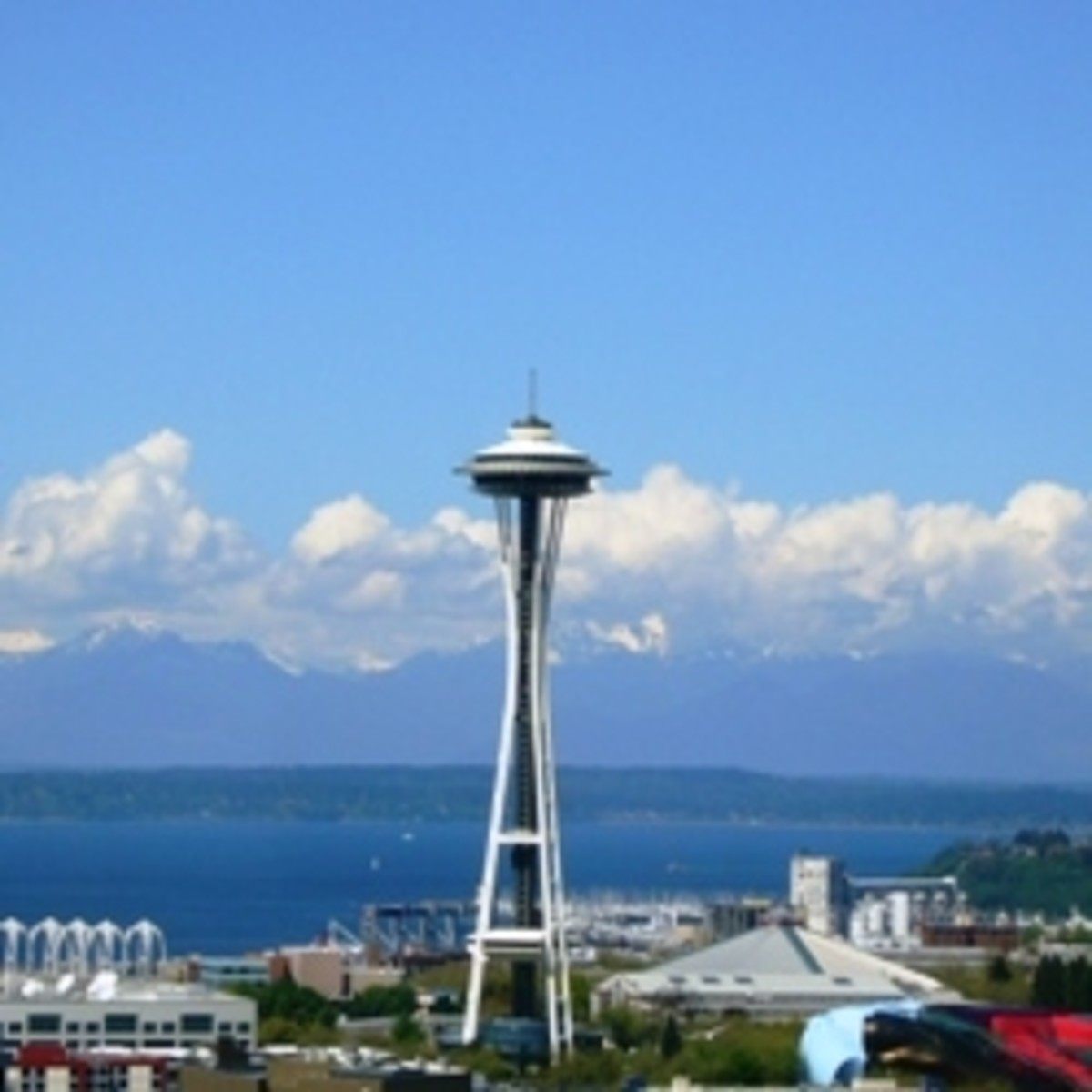 The Seattle Space Needle on a Sunny Day