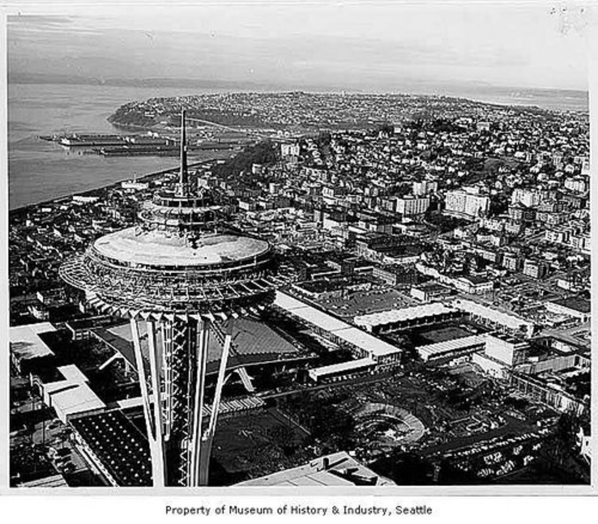 Construction of the Space Needle Revolving Restaurant