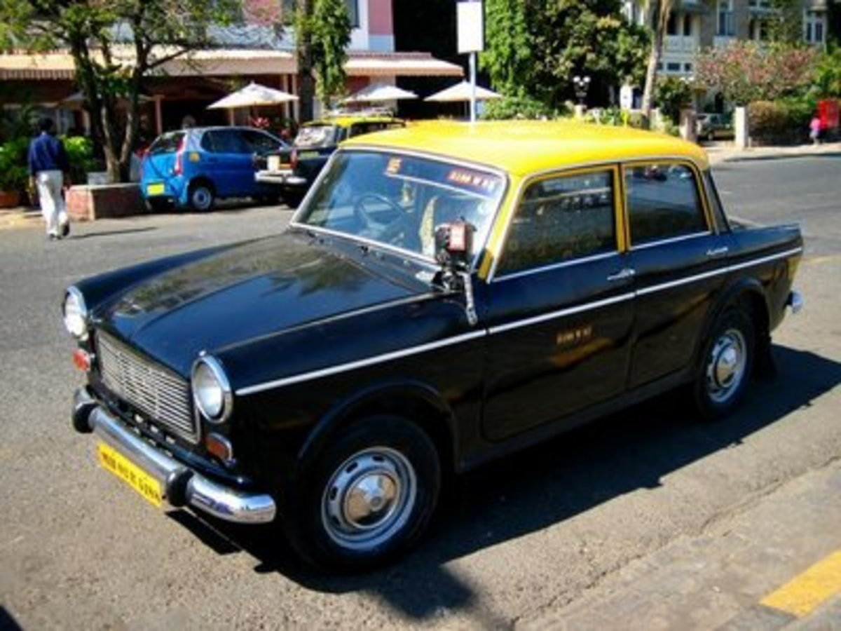 Black & Yellow Top Taxi