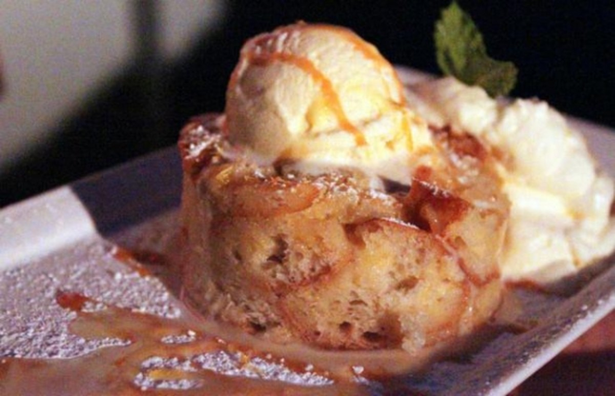 Slainte bread and butter pudding