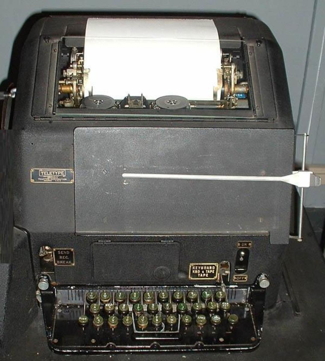 This was a transmit model.  Note the keyboard and the document holder at the front.  I wore my fingers to the knucklebones on these things some days.