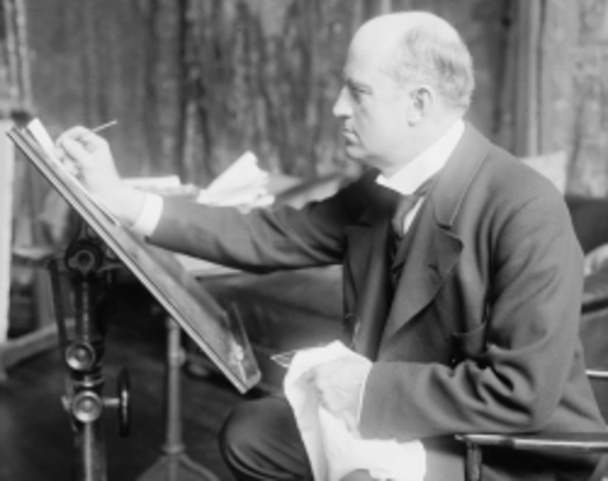 The artist at work - By George Grantham Bain Collection (Library of Congress) [Public domain], via Wikimedia Commons