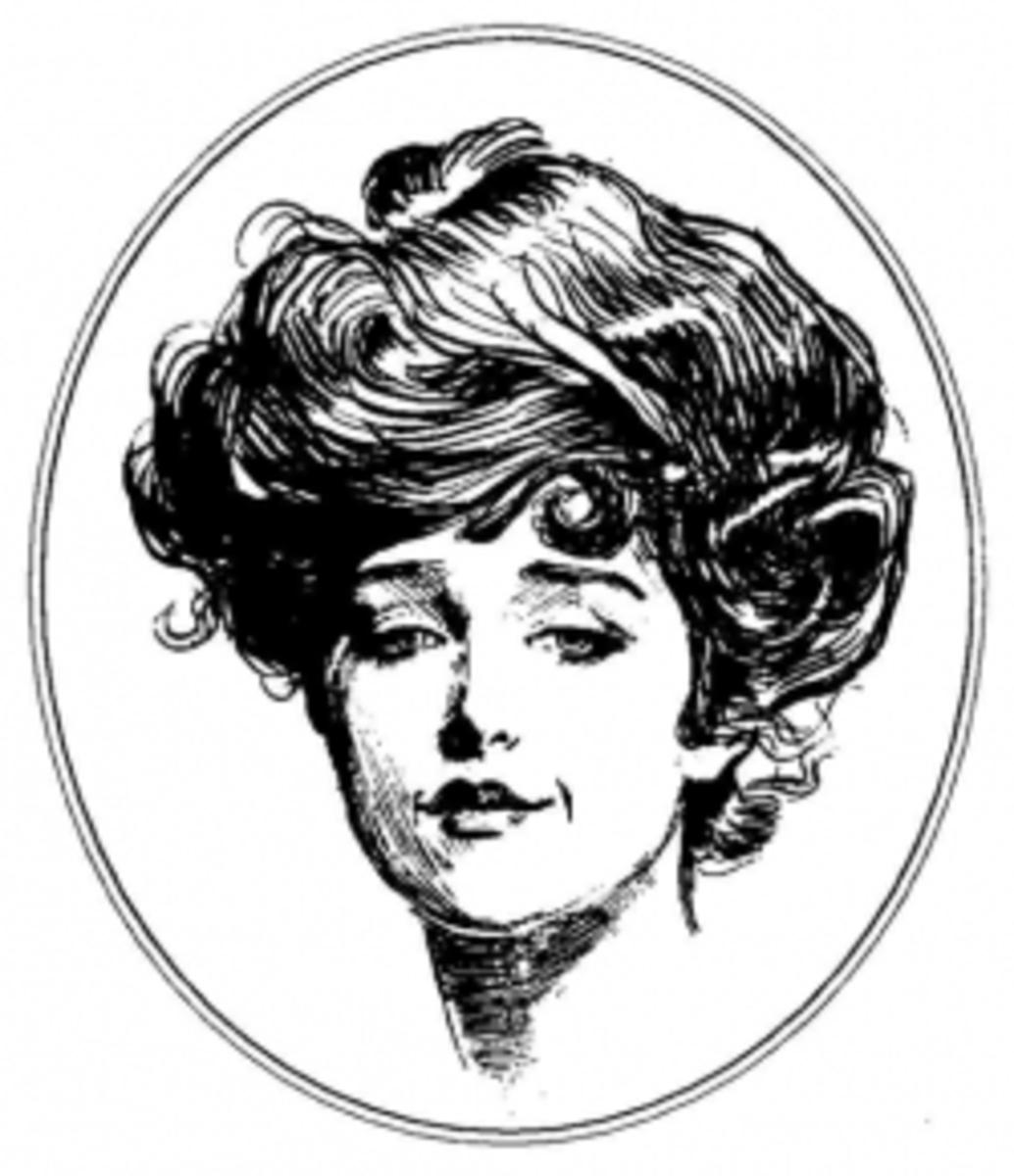 Gibson Girl portrait known as Irene Adler - see note below.