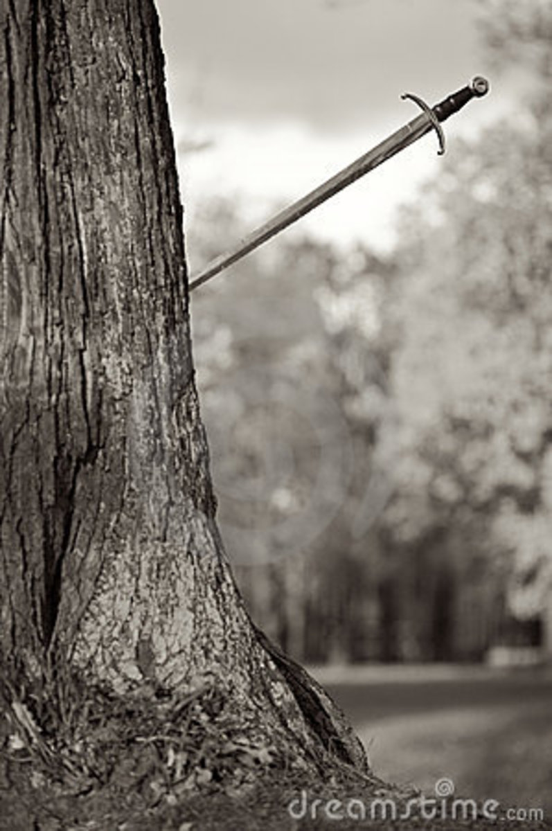 Practice against a Tree