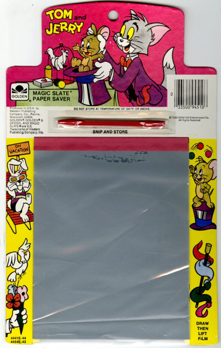 Here is a similar item called Magic Slate.  I think everyone had one of these!