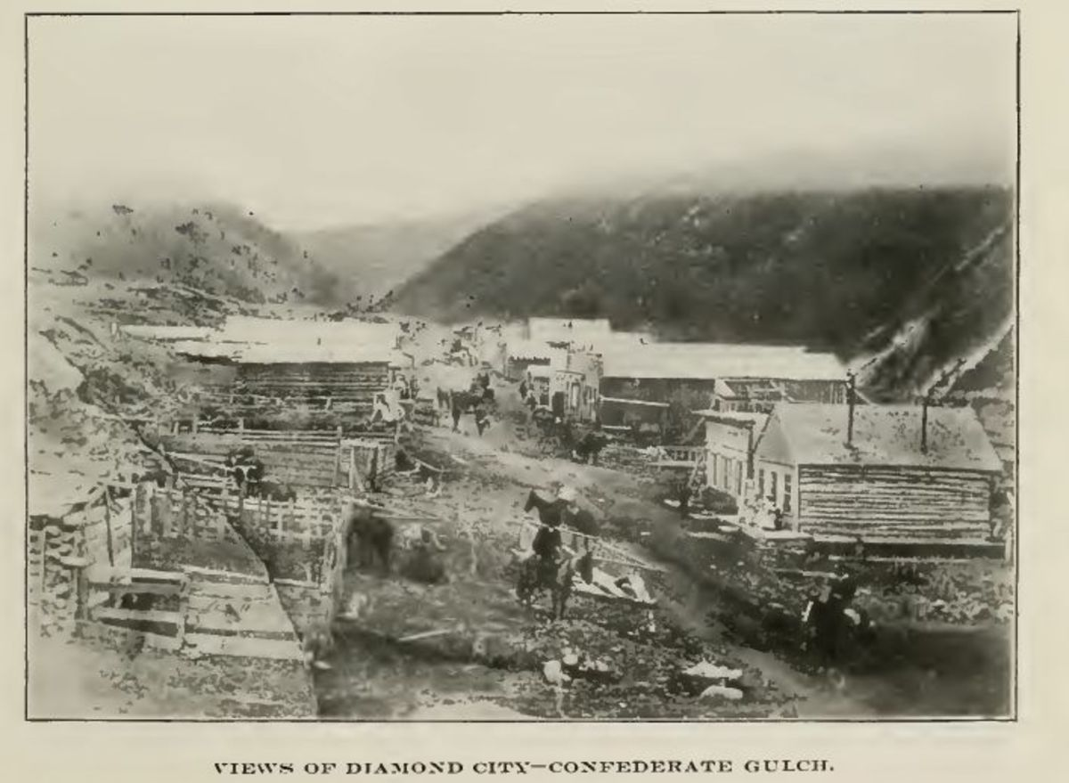 the-gold-rush-of-montana-confederate-gulch-and-diamond-city-1864-to1868